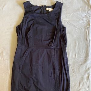 LOFT Dress Navy Blue